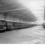Autobus au depot de lagny requisitionnes pour l'US army en 1946