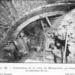 Construction de la voûte du métropolitain