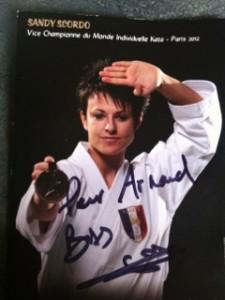 Sandy Scordo vice championne du monde de judo catégorie KATA (technique)