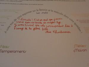 Verbatim de Mme Charbonnier sur le panneau de l'atelier sur le genre (2012-2013)