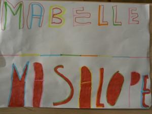 """Mots dessinés: """"Ma belle"""" et """"Ma salope"""""""